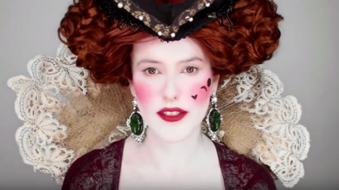 Яркий макияж аристократии в 16 веке.