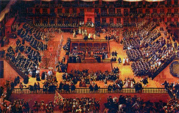 Аутодафе - публичный суд.