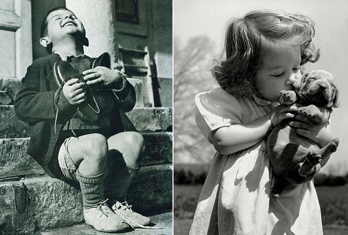 Послевоенное время. Неподдельные детские эмоции.