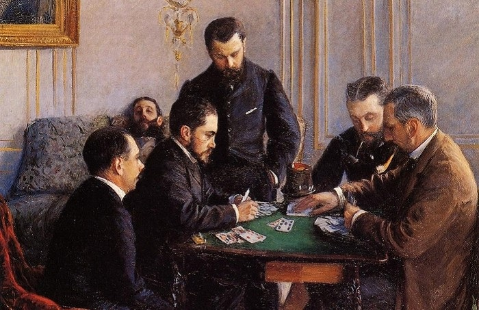 Игра в карты - одно из любимых развлечений в России в XIX веке. | Фото: restoru.ru.