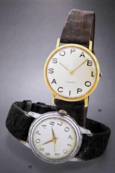 Оригинальные часы с надписью Pablo Picasso вместо цифр.   Фото: revolution.watch.