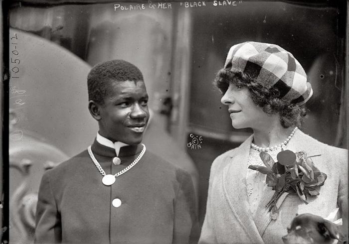 Полин Полер и ее «Черный раб». | Фото: shorpy.com.