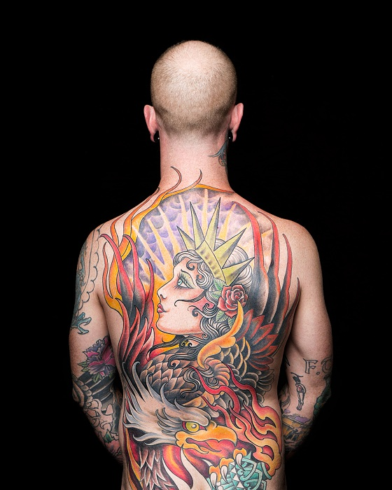Интерпретация Статуи Свободы в виде татуировки, 2016 г.