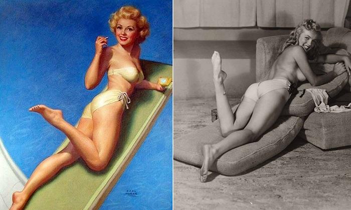 Пин-ап-модель Мэрилин Монро.