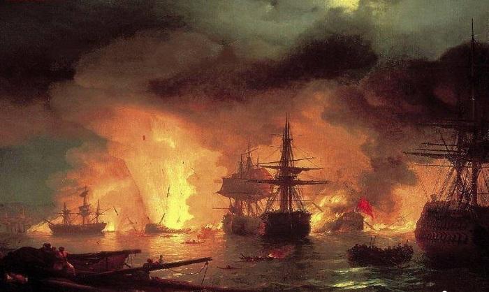 Чесменский бой, 1848 год.