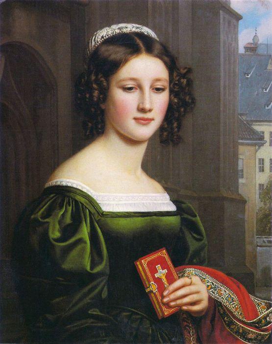 Анна Хиллмаэр - дочь торговца мясом. 1829 год. | Фото: spletnik.ru.