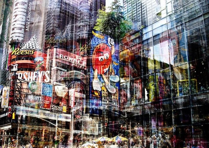 «Движение» города, отображенное французским фотографом.