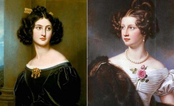 Портреты девушек из Галереи красавиц Людвига I Баварского.
