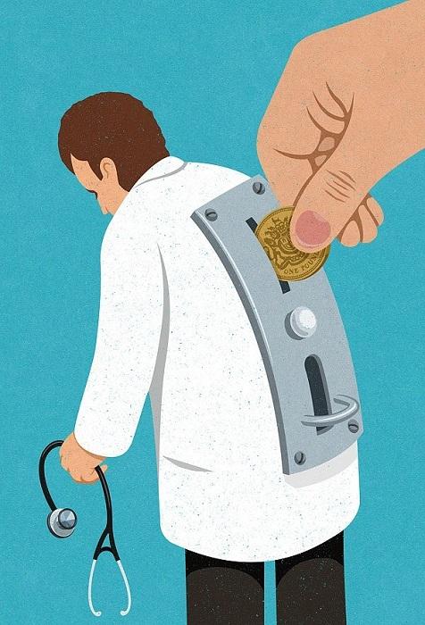 Не бросишь денежку - не начнут лечить.