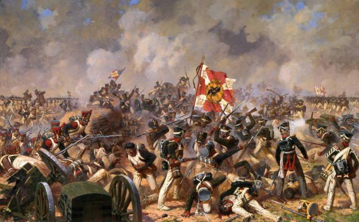 Битва за Малоярославец в 1812 г.<br>Аверьянов А. Ю., 1992 год. | Фото: small-pm.ru.