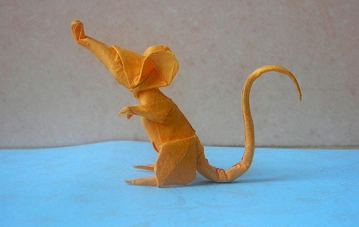 Мышка-оригами.