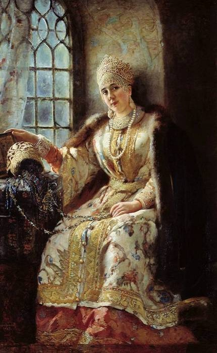 Анастасия Захарьина - 1-я жена Ивана Грозного.