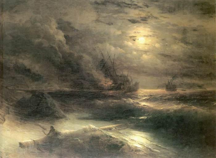 Буря у мыса Айя. И.К. Айвазовский, 1875 год.