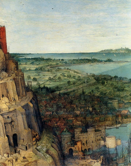 Вавилонская башня. Фрагмент. | Фото: artboom.info.