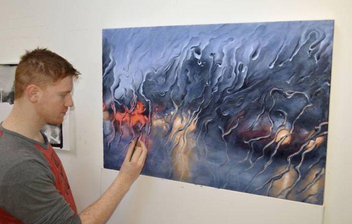 Ирландский художник Френсис МакКрори рисует гиперреалистичные картины.