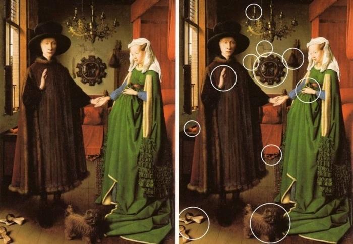 Портрет четы Арнольфини. Скрытые символы. | Фото: taqplayer.info.
