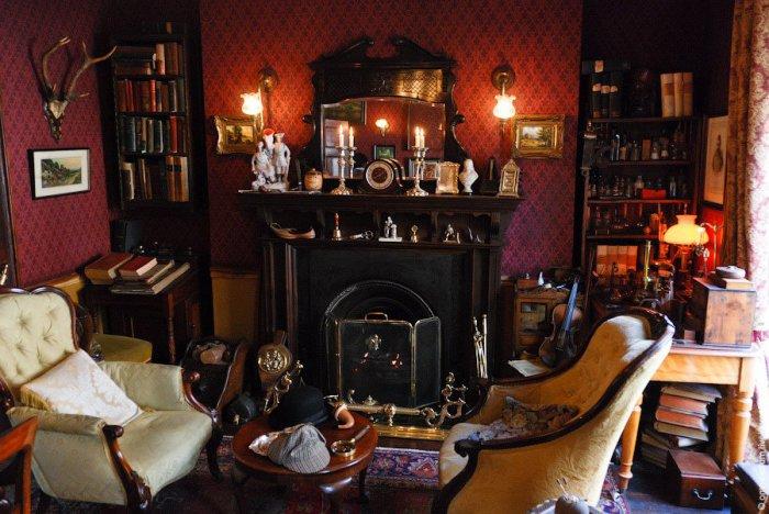 Гостиная в доме-музее Шерлока Холмса. | Фото: loveopium.ru.