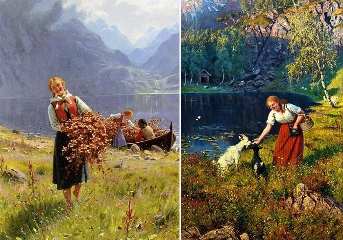 Творчество норвежского художника Ханса Даля.