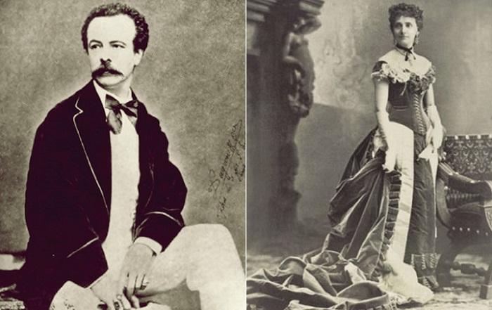 Модельер Чарльз Фредерик Ворт и его супруга Мари Верне Ворт.