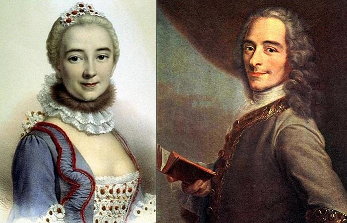 Эмилия дю Шатле и Вольтер.