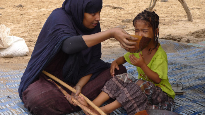 В Мавритании девочек насильно откармливают молоком. | Фото: mtdata.ru.