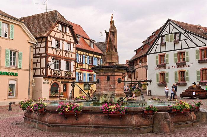 Маленький эльзасский городок Эгисхайм.