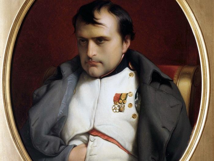 Наполеон Бонапарт после отречения во дворце Фонтенбло. Деларош (1845). Фрагмент. | Фото: images.forwallpaper.com.