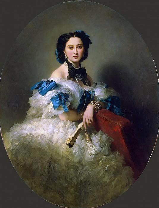Портрет графини Варвары Алексеевны Мусиной-Пушкиной. Ф. Винтерхальтер, 1857 год.