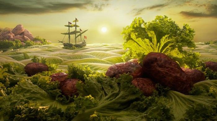 «Съедобный» пейзаж.