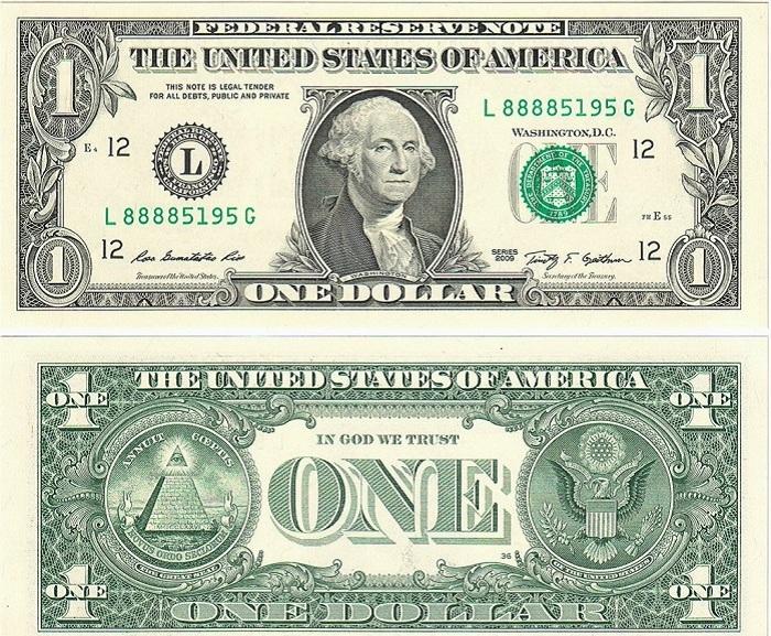 Аверс и реверс американского доллара. | Фото: bigpicture.com.ua.
