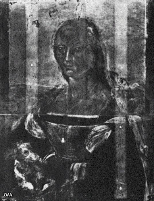 Рентгеновский снимок картины Рафаэля. | Фото: onlygossip.net.