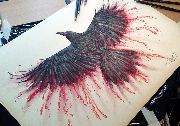 Оригинальный рисунок, созданный норвежским художником Dino Tomic.