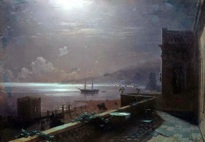 Феодосия в лунную ночь. И. К. Айвазовский, 1880 год. | Фото: itd0.mycdn.me.