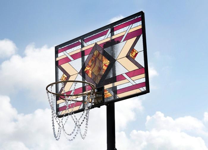 Баскетбольный щит в стиле «Тиффани».