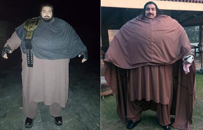 436-килограммовый Хан-Баба считает себя самым сильным человеком в мире.