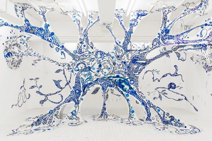 Инсталляция японской художницы.