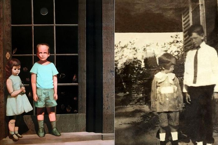 «Hands Resist Him» - картина и фотография, послужившая основой для полотна.