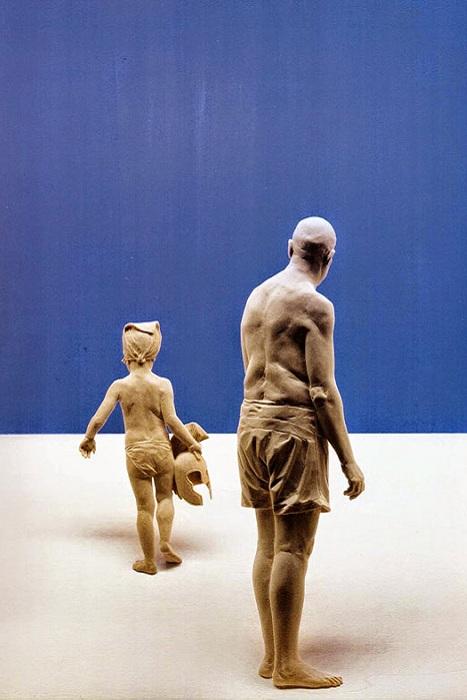 Гиперреалистичные скульптуры из дерева.