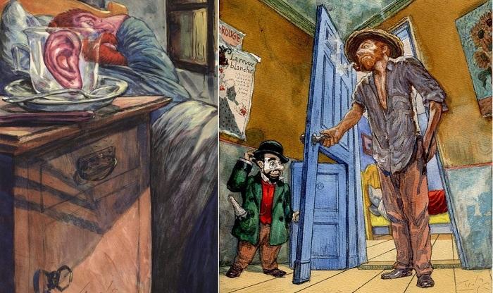 Комиксы о постимпрессионистах от югославского художника.