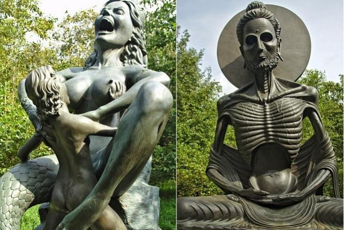 Victoria's Park - ирландский парк с индийскими скульптурами.