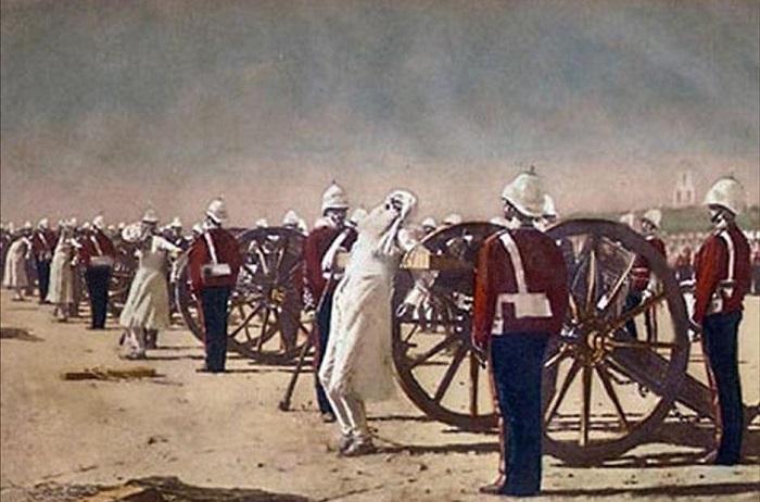 Подавление индийского восстания англичанами, В. Верещагин, 1884 год. | Фото: krasfun.ru.