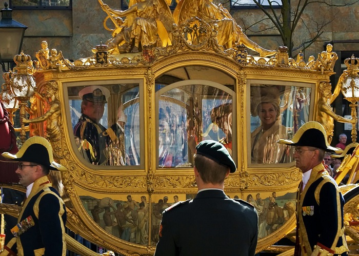 Экипаж короля Нидерландов Виллема-Александра.