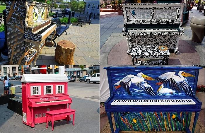 «Play me, I'm yours» - проект с раскрашенными уличными пианино.