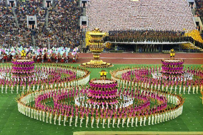 В церемонии открытия Московской олимпиады'80 было задействовано 16 тысяч выступающих. | Фото: mtdata.ru.