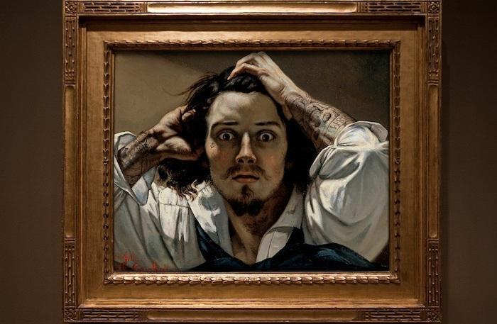 Отчаяние (Автопортрет), Густав Курбе, 1845 год.