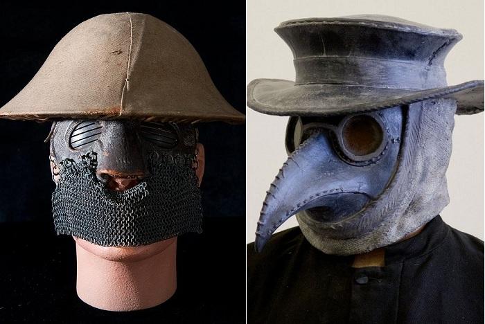 Жутковатые маски прошлого.
