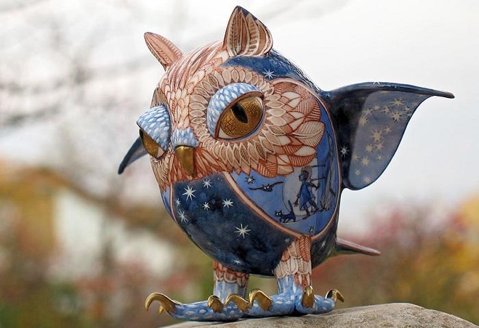 Фарфоровая мини-скульптура.