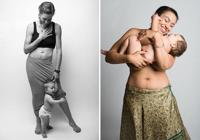 Beautiful Body Project - снимки матерей с неидеальными телами.
