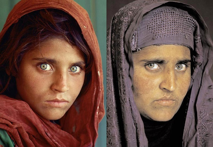 «Афганская девочка»: тогда и сейчас.