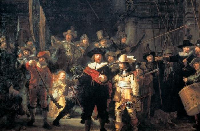 Ночной дозор. Рембрандт, 1642 год.